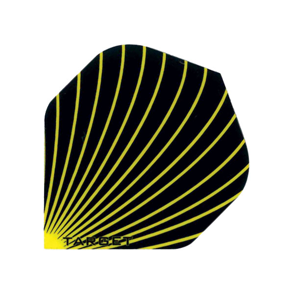 Pro 100 Flights- Swirl Yellow- Standard